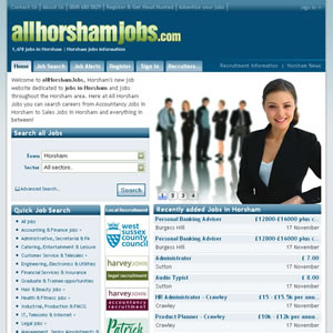 click here to visit All Horsham Jobs website